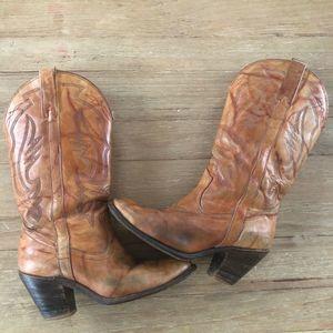 Miss Capezio VTG Leather Cowboy boots 9